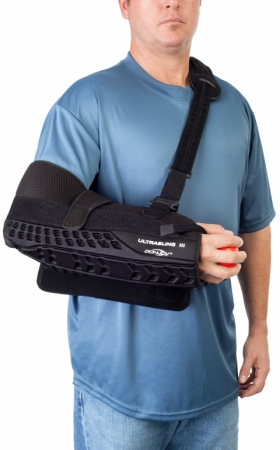 DonJoy UltraSling™ III Shoulder Sling immobilization for rotator cuff repairs, capsular shifts Bankhart Repairs Glenohumeral Dislocations Subluxation & Soft Tissue Repairs Strains